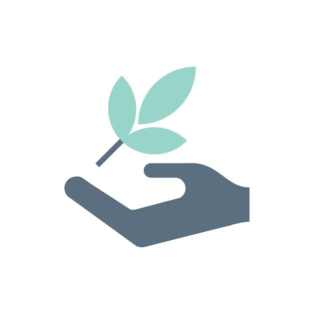 Иллюстрация значков экологической поддержки Бесплатные векторы