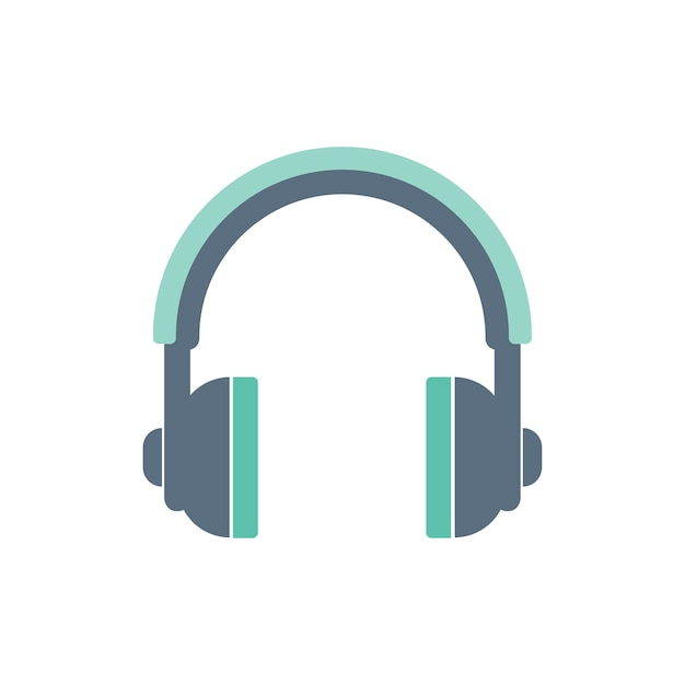 Illustration of headphones icon Free Vector