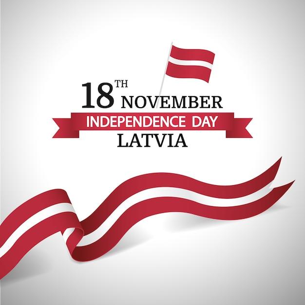 Иллюстрация ко дню независимости латвии. Premium векторы