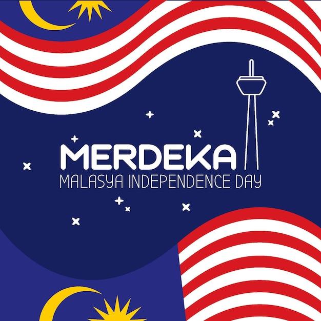 マレーシアイベントの独立記念日のイラスト 無料ベクター
