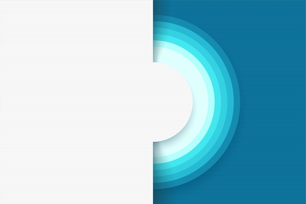 Иллюстрация современного дизайна абстрактный белый фон с кругами и элементами синего цвета Premium векторы