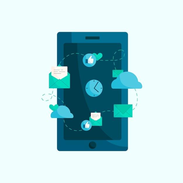 現代の携帯電話のイラスト Premiumベクター