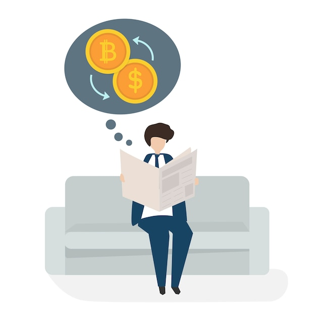 Illustration of people avatar business\ financial concept