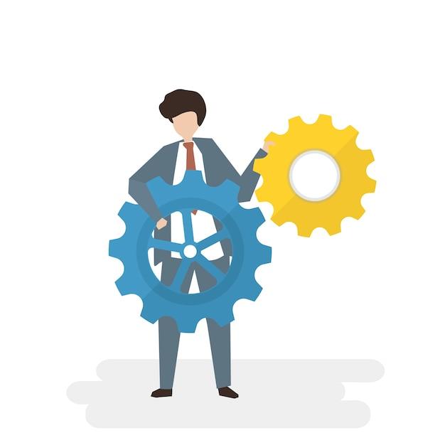 Illustration of people avatar business teamwork\ concept