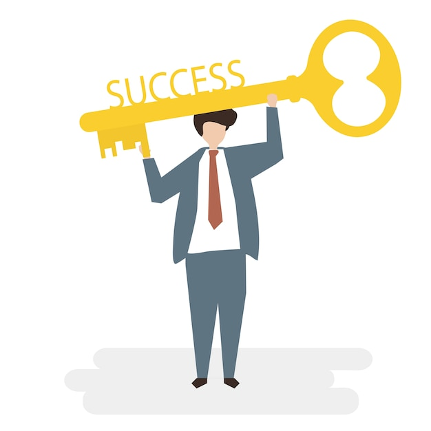 Illustration of people avatar success business\ concept