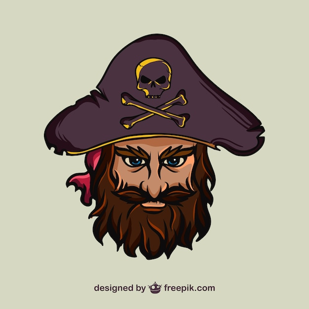 Pirate face vector - photo#10