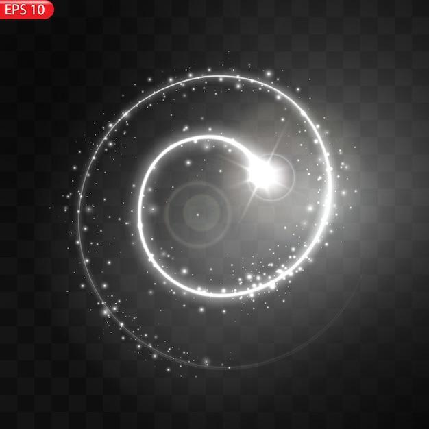 Иллюстрация реалистичной падающей кометы изолированной. падающая звезда метеор с хвостом Premium векторы