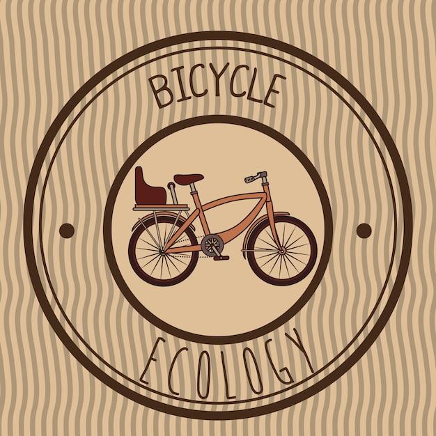Иллюстрация ретро эмблема велосипеда Бесплатные векторы