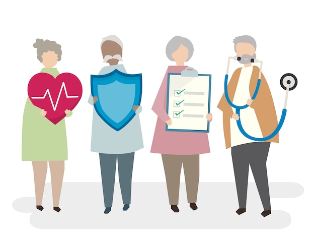 Illustration of senior adult life\ insurance