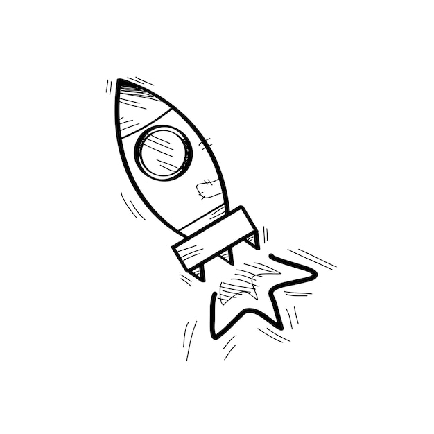 Illustration of startup business doodle Free Vector