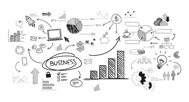 Иллюстрация начинающего бизнеса Бесплатные векторы