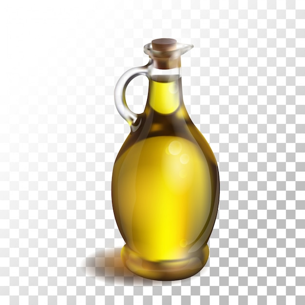 Illustration olive oil on transparent Premium Vector