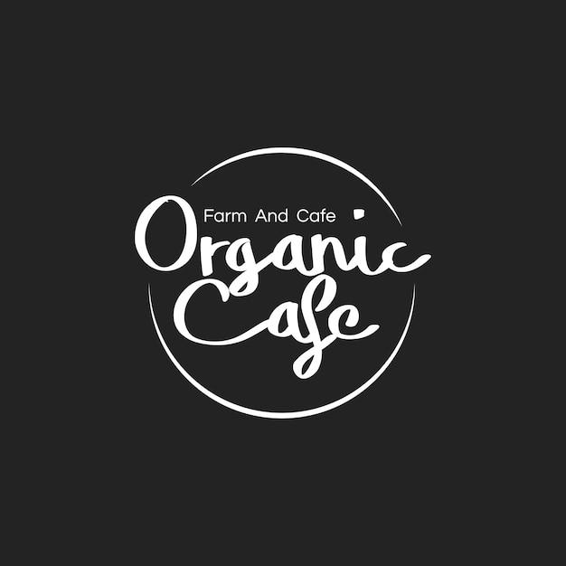 Illustration of organic food stamp banner Free Vector