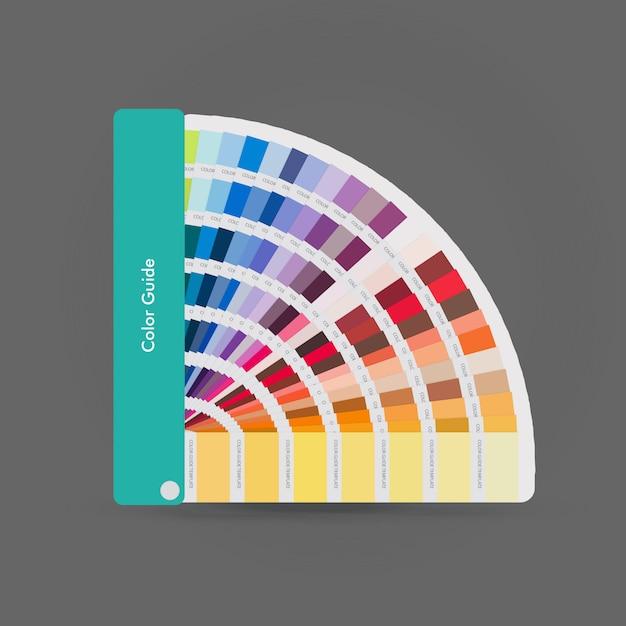 Illustration of pantone colors for print, guide book for designer Premium Vector