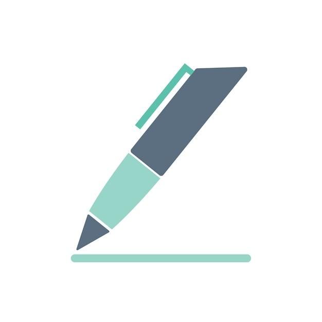 Illustration of pen icon Free Vector