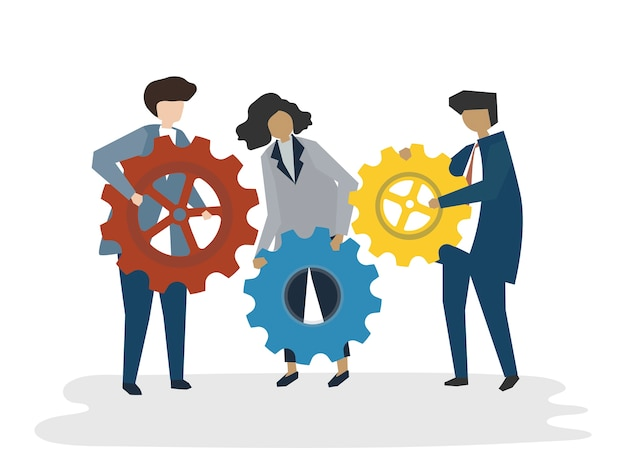 Illustration of people avatar business teamwork concept Free Vector