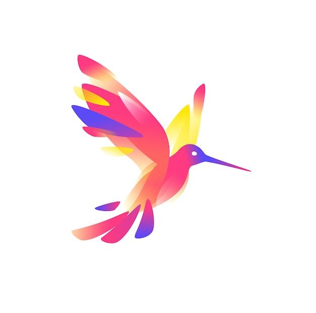 Illustration of a pink colibri Premium Vector