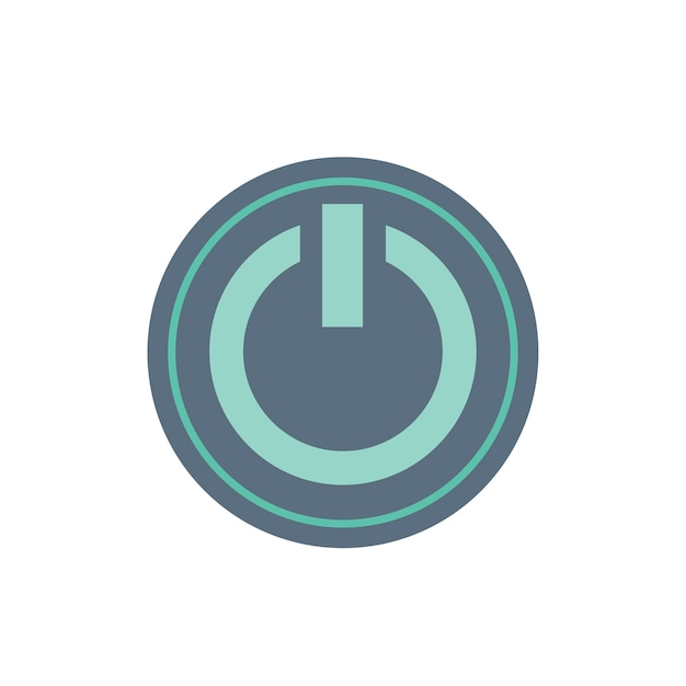 Illustration of power button Free Vector