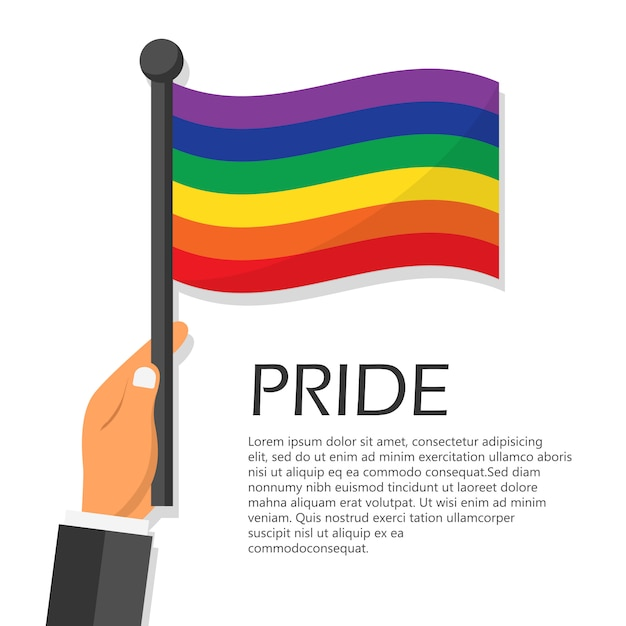 Illustration for pride month event celebration. Premium Vector