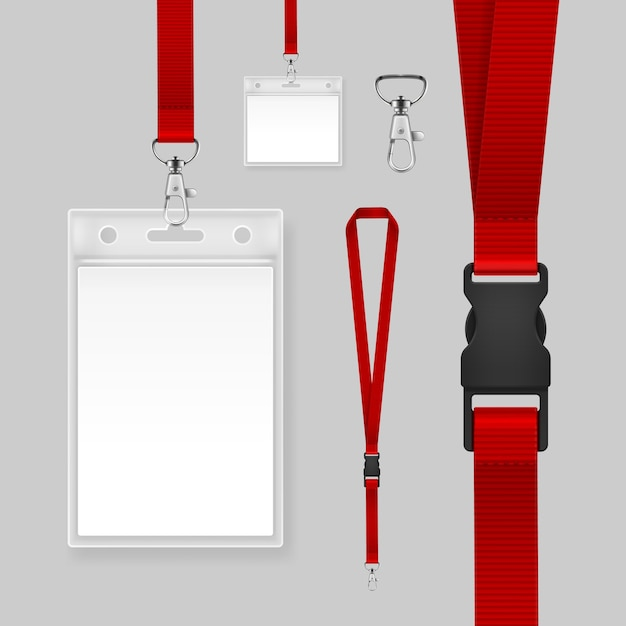 Premium Vector Illustration Of Professional Identification Card Template Id Badges Holders