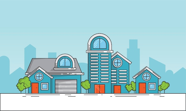 Illustration of property concept Free Vector