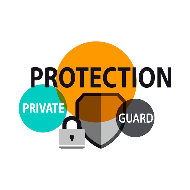 Illustration of protection shield Free Vector