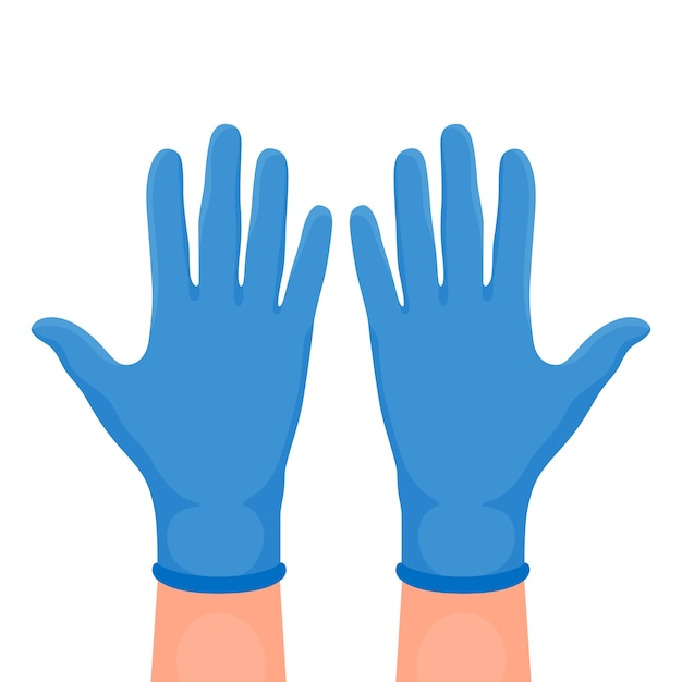 Illustration of protective gloves Free Vector