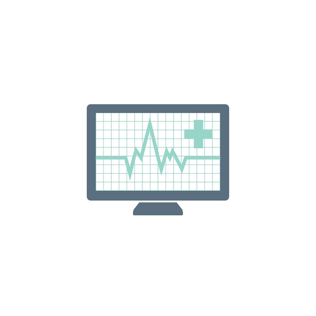 Illustration of pulse rate Free Vector