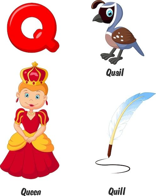 Illustration of q alphabet Premium Vector