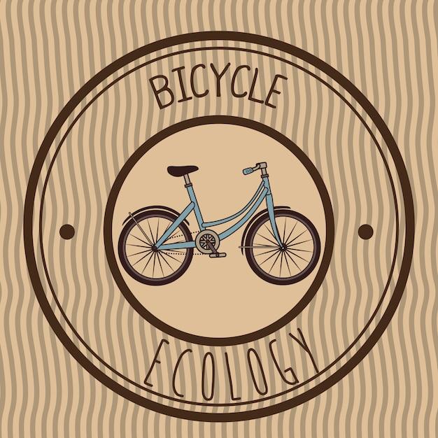 Illustration of retro emblem bicycle Free Vector