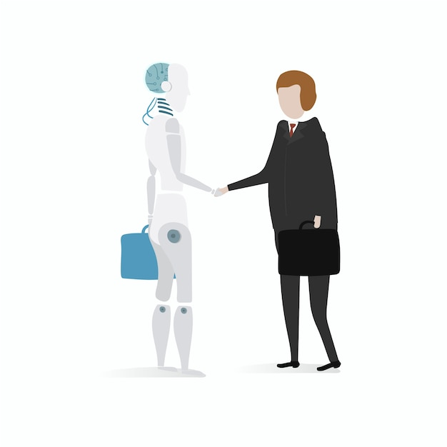 Illustration of robot vector graphic Free Vector