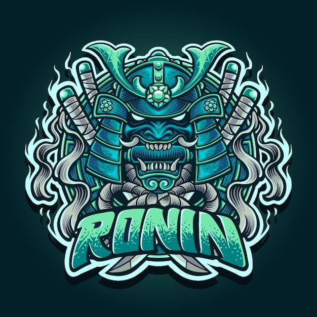 Illustration of ronin samurai Premium Vector