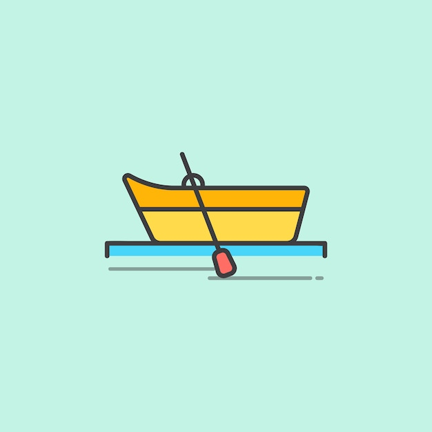 Illustration of a row boat Free Vector