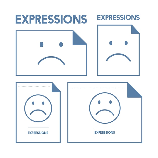 Illustration of sad emotion Free Vector