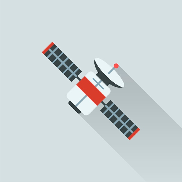 Illustration of satellite Free Vector