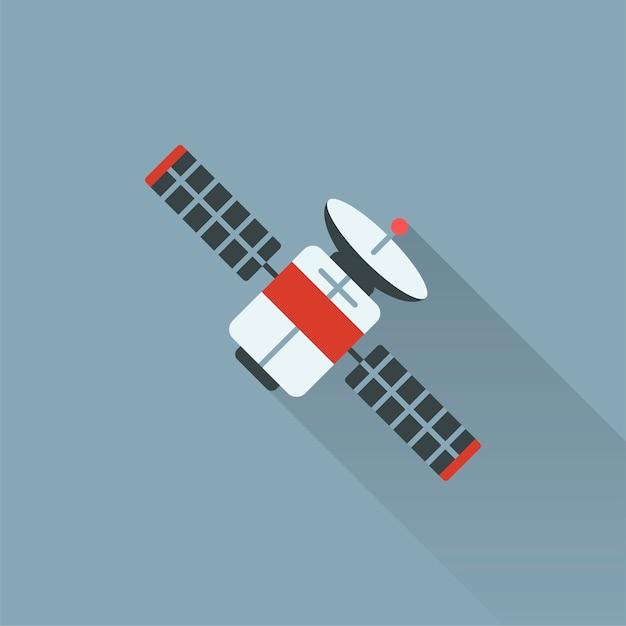 Illustration of satellite Free Vector