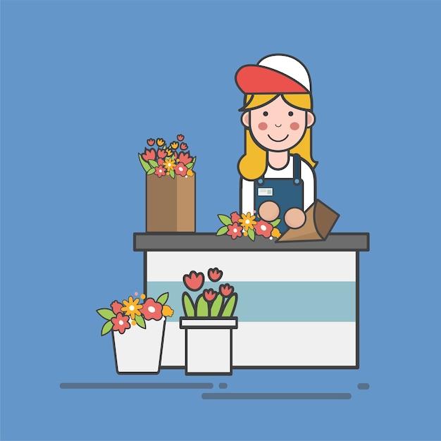 Illustration set of supermarket vector Free Vector
