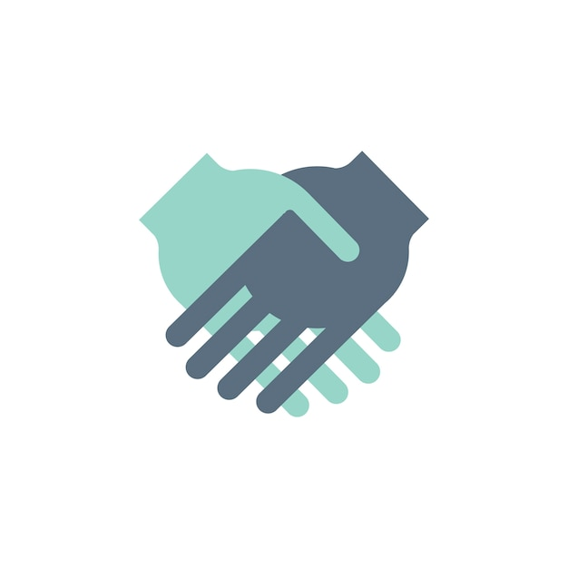 Illustration of shaking hands agreement Free Vector