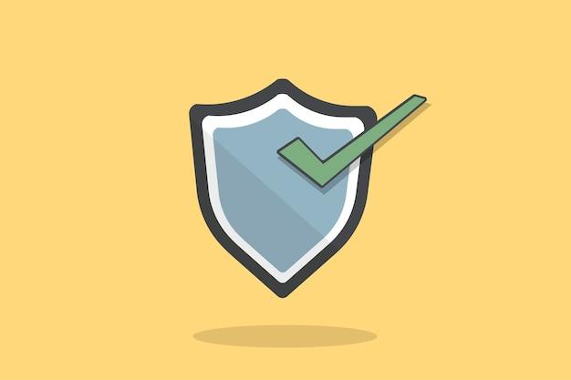 Illustration of shield icon Free Vector
