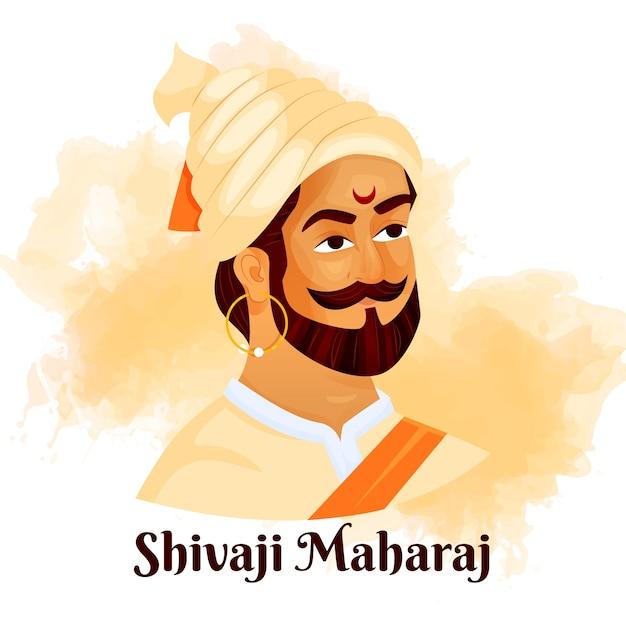 Illustrazione di shivaji maharaj Vettore gratuito