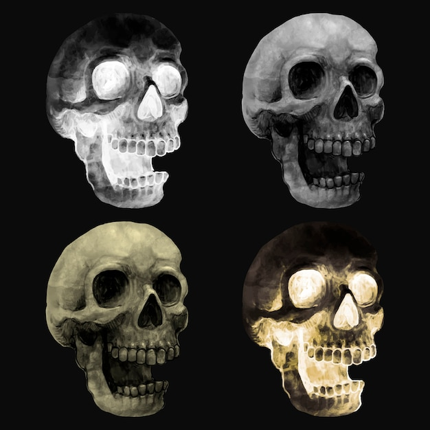 Illustration of a skull icon vector for halloween Free Vector