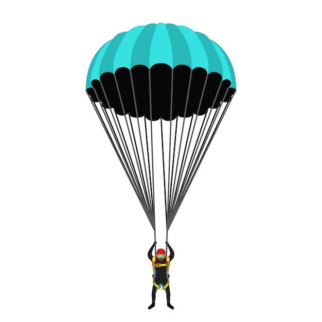 Illustration for skydiving school Premium Vector