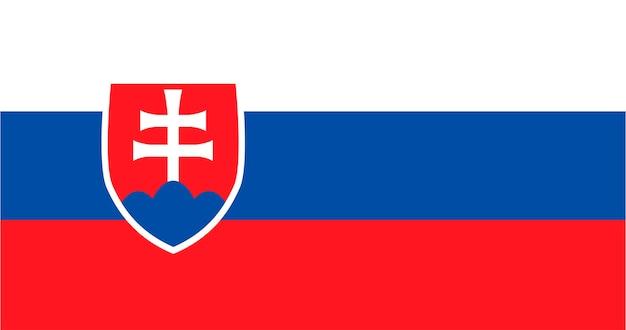 Illustration of slovakia flag Free Vector