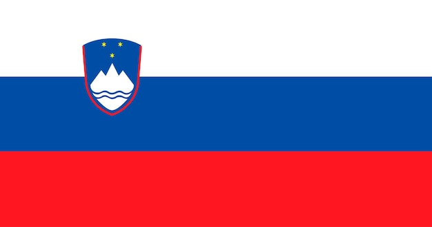 Illustration of slovenia flag Free Vector