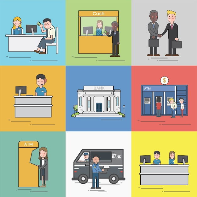Illustration of small business Free Vector