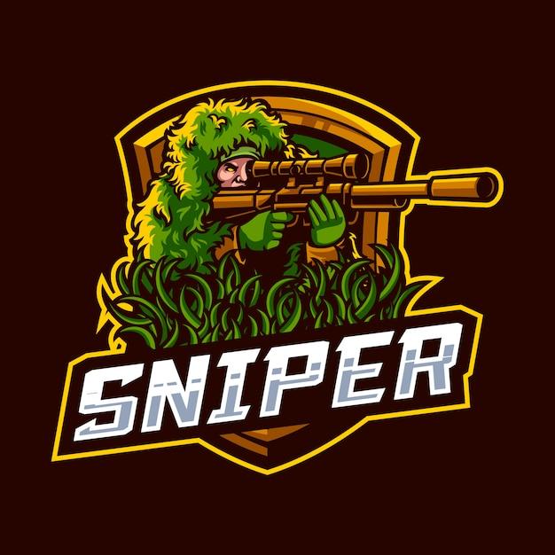 Illustration of sniper Premium Vector