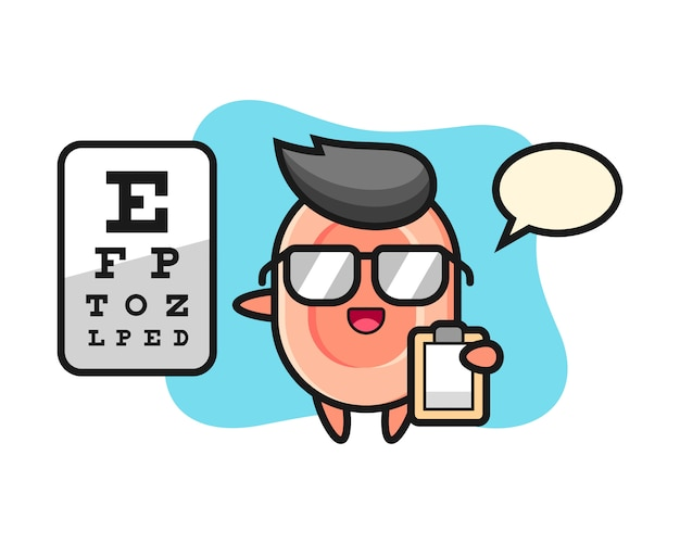 Illustration of soap mascot as a ophthalmology, cute style  for t shirt, sticker, logo element Premium Vector