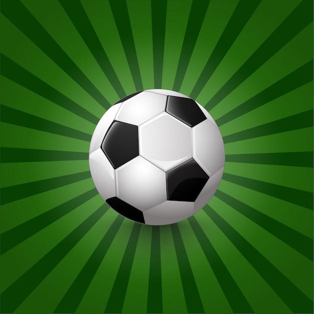 Illustration of soccer ball on background Premium Vector