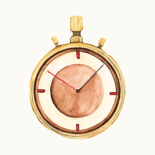 Illustration of a stop watch Free Vector