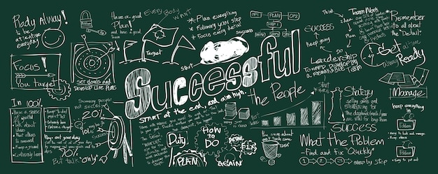 Illustration of successful concept Free Vector